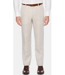 perry ellis men's portfolio modern-fit linen/cotton solid dress pants