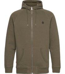 e-r basic reg zip thru hoodie trui groen timberland