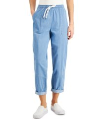 dickies juniors' cuffed cropped pants