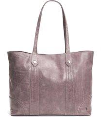 frye melissa leather shopper - purple
