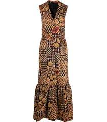 a.n.g.e.l.o. vintage cult 1960s paisley-print maxi dress - black