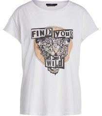 katoenen t-shirt met print saba  wit