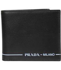 prada logo flap wallet