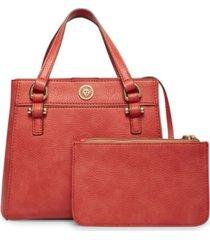anne klein women's east west triple compartment satchel