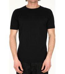 john smedley black cotton t-shirt