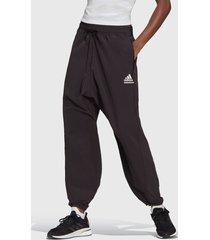 pantalón adidas performance w zne mtn pnt negro - calce holgado