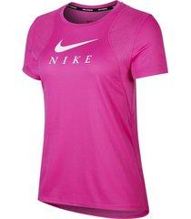 camiseta graphic running top nike mujer cj1982-601 rosa