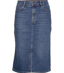 millie denim skirt rok knielengte blauw lexington clothing