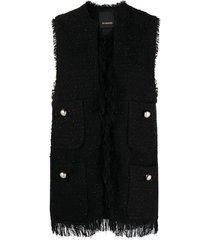 crudo gilet tweed