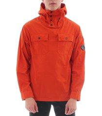 cp company over shirt jacket - pumpkin cmos231a2824g-449