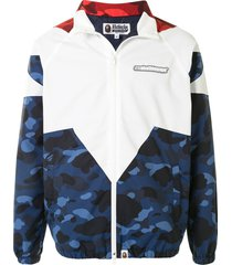 a bathing ape® camouflage-print panelled jacket - multicolour