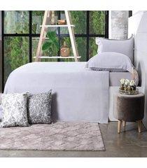 jogo de cama 200 fios king 100% algodão pentado toque macio classique - bene casa