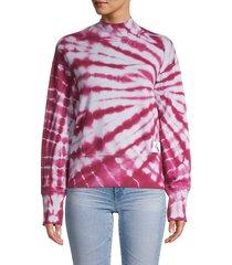 calvin klein jeans women's tie-dyed cotton sweatshirt - winter sky - size m