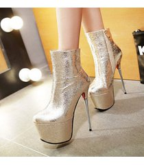 pb200 luxury 16 cm heels booties, patent leather us size 2-10.5, gold