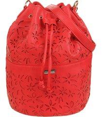 bolso rojo stefani flores