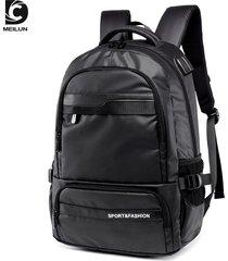 mochila bolso para hombre, de hombro, bolsa de viaje,-negro