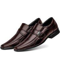 sapato social 3ls3 tamanho especial masculino - masculino