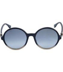 fendi women's 55mm round sunglasses - grey