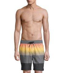 hurley men's colorblock volley swim shorts - medium grey - size m