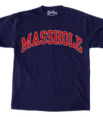 masshole blue red unisex male female all ages vintage t-shirt gift
