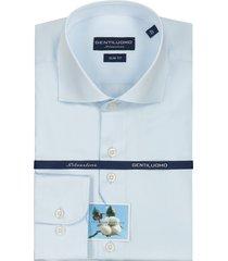 gentiluomo heren overhemd rivoli licht slim fit blauw