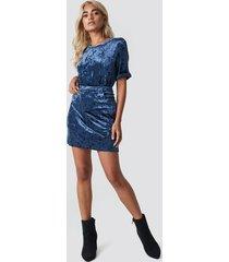 rut&circle velvet skirt - blue