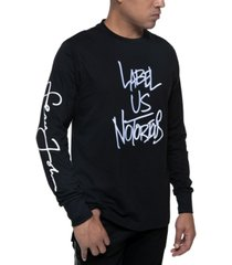 sean john men's long-sleeve raised embroidery t-shirt