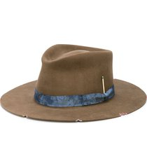 nick fouquet whiskey springs distressed hat - brown