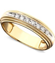 men's diamond ring in two-tone 14k gold ( 1/5 ct. t.w.)