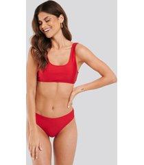na-kd swimwear sporty bikini briefs - red