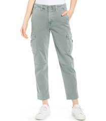 hudson jeans jane relaxed cargo pants, size 24 in distressed sage at nordstrom