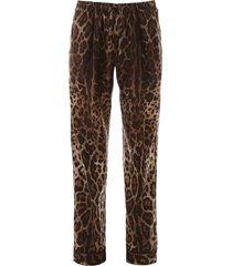 dolce & gabbana leopard pajama pants