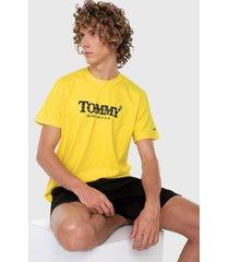 camiseta amarillo-blanco-rojo tommy jeans