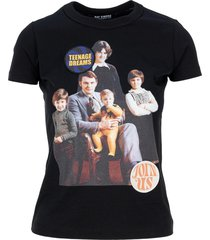 raf simons family portrait-print t-shirt