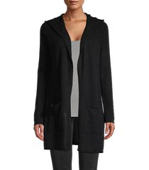 hooded cashmere cardigan sweater