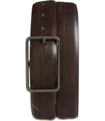 men's ted baker london mattel leather belt, size 30 - brown chocolate