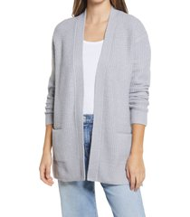 women's caslon open front cardigan sweater, size xx-large - grey