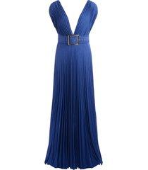 elisabetta franchi dress in cobalt blue lurex