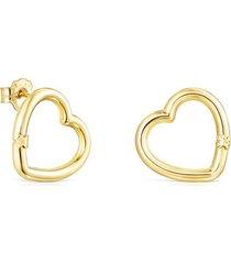 pendientes hold corazón de oro 012343000