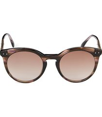 bottega veneta women's 51mm round sunglasses - havana pink