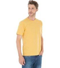 camiseta canelada amarela - masculino