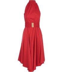 halter poplin dress