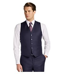 traveler collection tailored fit solid men's suit separates vest by jos. a. bank