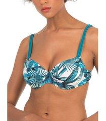 bikini selmark palmeras mare blauw nestelende badpak topje