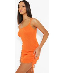 geplooide gebreide jurk, orange