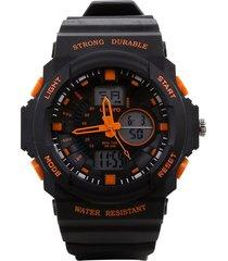 relógio pulso digital umbro masculino borracha esportivo preto