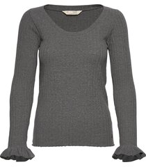 liza l/s top t-shirts & tops long-sleeved grijs odd molly
