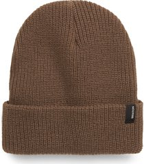 brixton heist beanie, size none in coyote brown at nordstrom