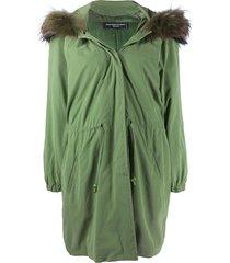 jean louis scherrer pre-owned 1990s hooded parka - green