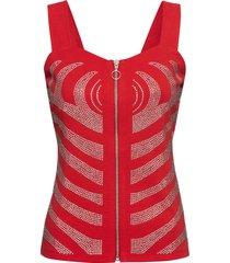 top con strass (rosso) - bodyflirt boutique